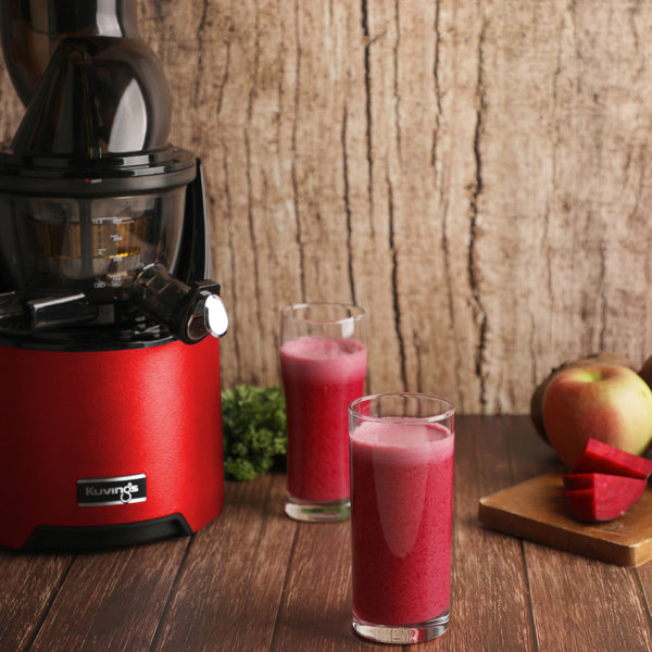 Beetroot Juice In Glass With Kuvings EVO820